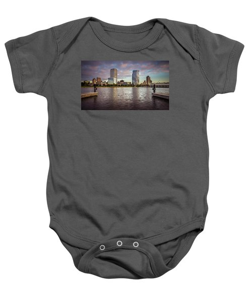 Milwaukee Skyline Baby Onesie