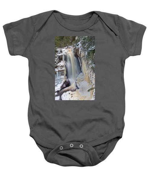 Miners Falls In The Snow Baby Onesie