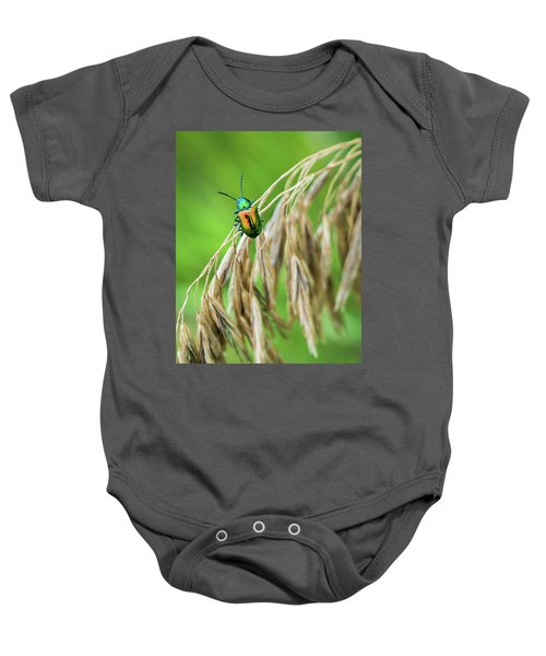 Baby Onesie featuring the photograph Mini Metallic Magnificence  by Bill Pevlor