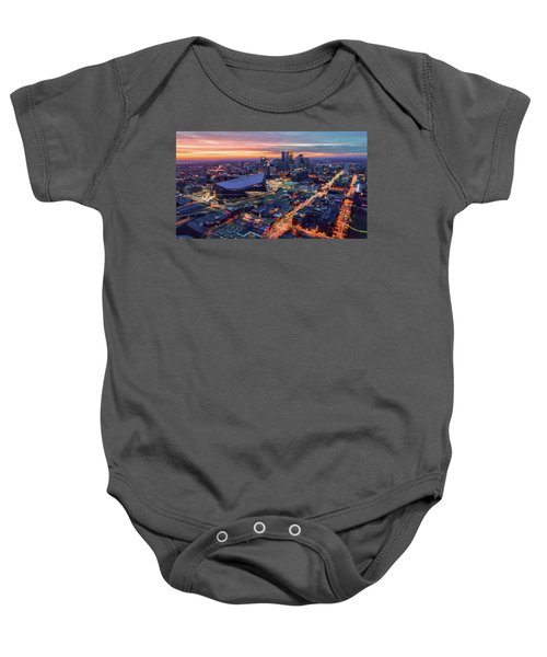 Minneapolis And Us Bank Stadium At Dusk Baby Onesie