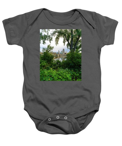 Minneapolis Through The Trees Baby Onesie