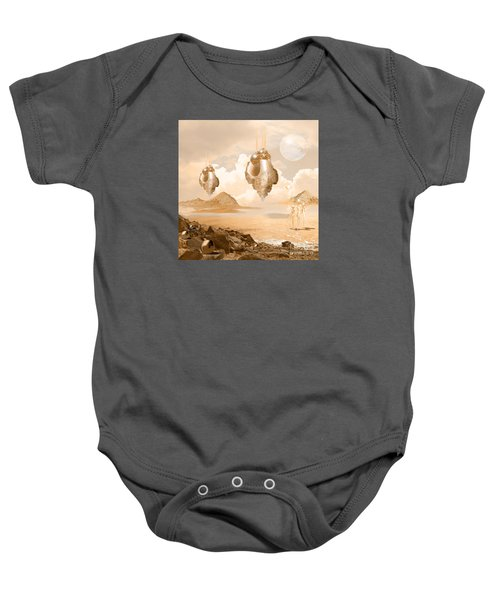 Mission In A Far Planet Baby Onesie