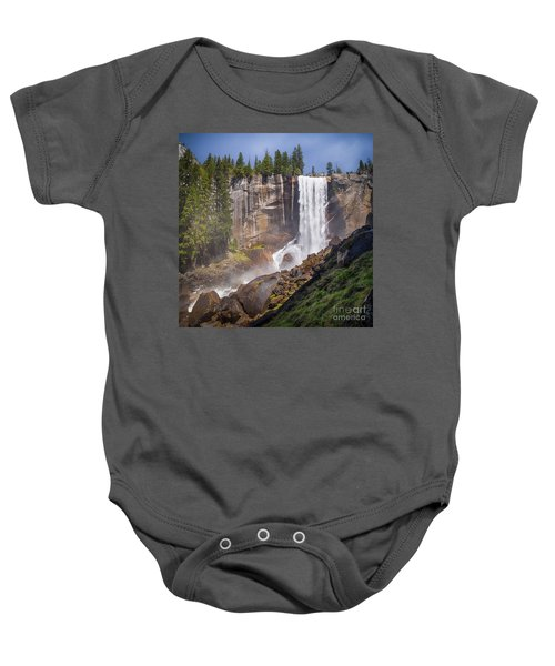 Mist Trail And Vernal Falls Baby Onesie