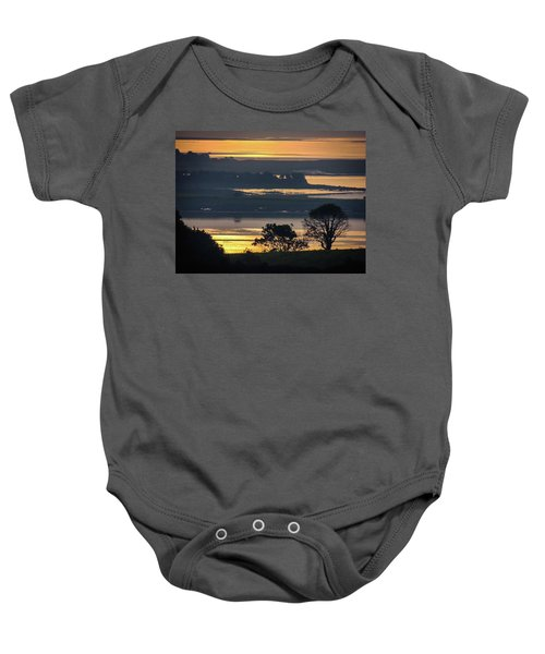Baby Onesie featuring the photograph Misty Irish Morning On The Shannon by James Truett