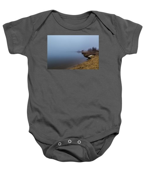 Misty Morning By The Lake Baby Onesie