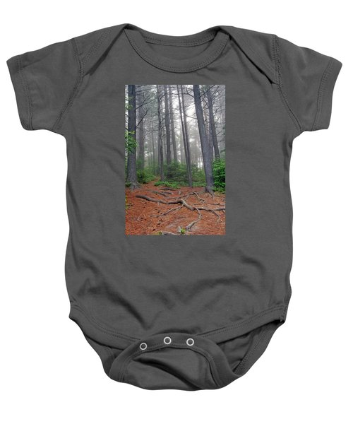 Misty Morning In An Algonquin Forest Baby Onesie