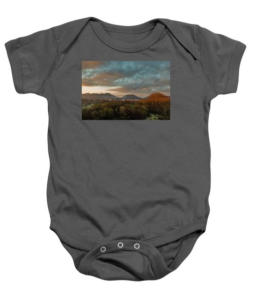 Misty Morning Over The San Diego River Baby Onesie