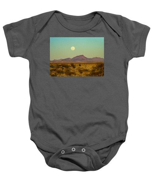 Mohave Desert Moon Baby Onesie