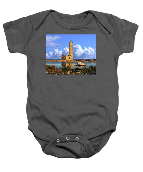 Mohawk Island Lighthouse Baby Onesie