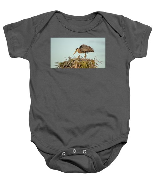 Mom And Chick Baby Onesie