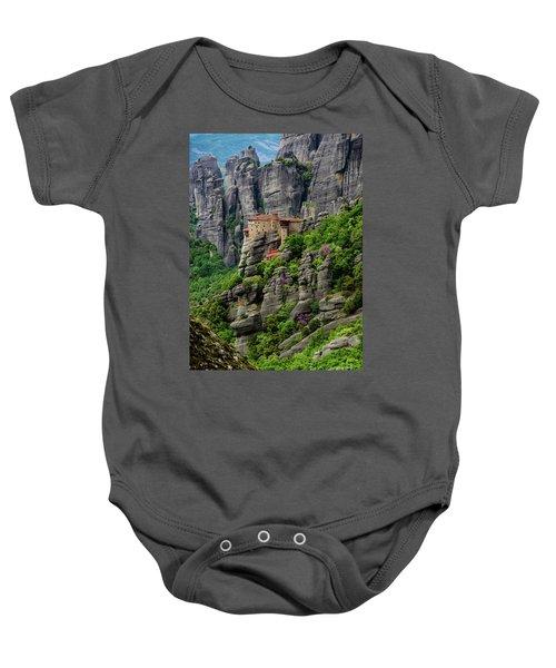 Monastery Of Saint Nicholas Of Anapafsas, Meteora, Greece Baby Onesie