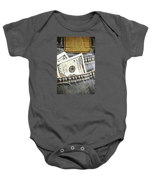 Money Jeans Baby Onesie