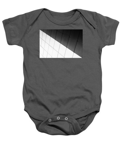 Monochrome Building Abstract 3 Baby Onesie