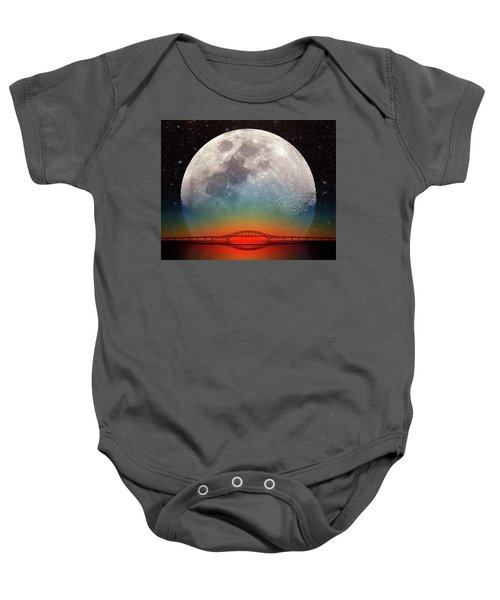 Monster Moonrise Baby Onesie