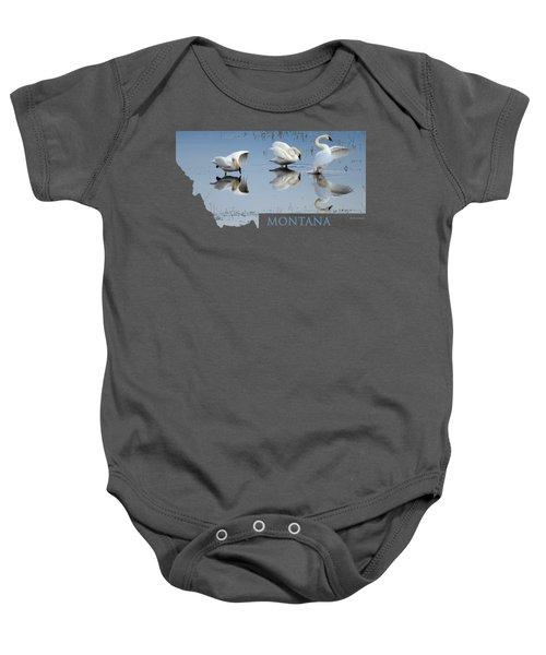 Montana- Swan Ballet Baby Onesie