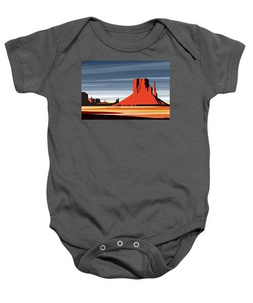 Monument Valley Sunset Digital Realism Baby Onesie