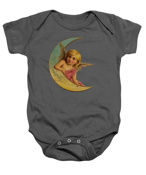 Moon Angel T Shirt Design Baby Onesie by Bellesouth Studio