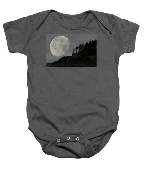 Moon At Roosevelt Beach Wa Baby Onesie