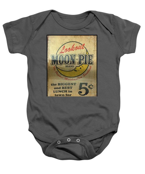 Moon Pie Antique Sign Baby Onesie