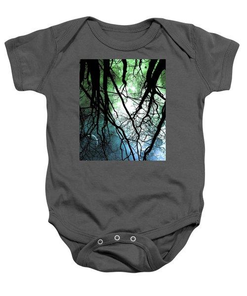 Moonlight Forest  Baby Onesie