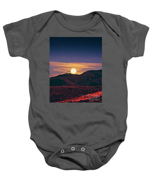 Moonrise In Northern New Mexico  Baby Onesie