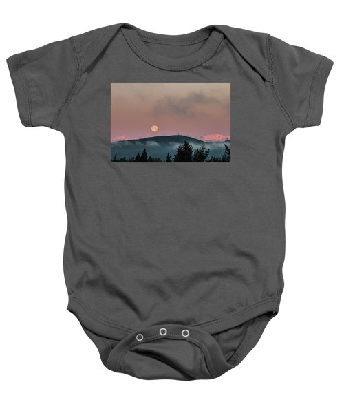 Moonset At Dawn Baby Onesie