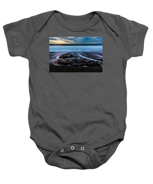 Moonstone Beach In The New Year Baby Onesie