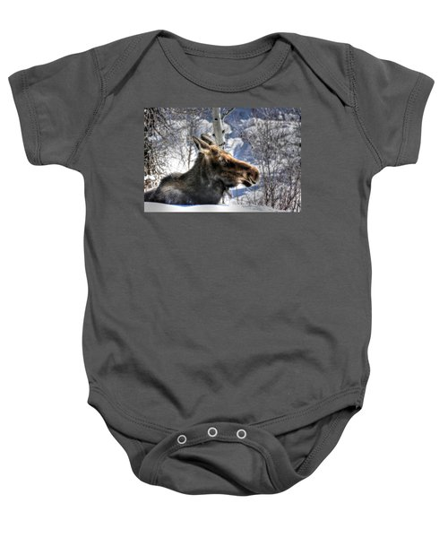 Moose On The Loose Baby Onesie