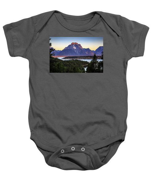 Morning At Mt. Moran Baby Onesie by David Chandler