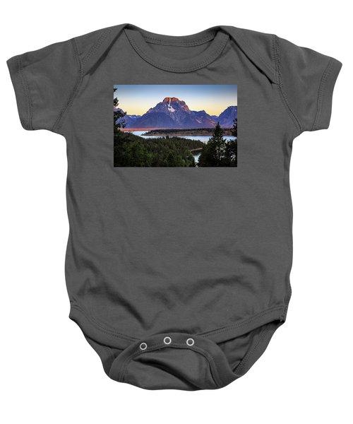 Morning At Mt. Moran Baby Onesie