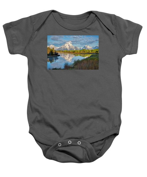 Morning At Oxbow Bend Baby Onesie