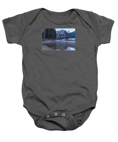 Morning Fog Yosemite Falls Baby Onesie