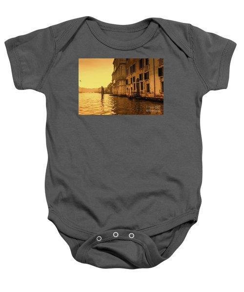 Morning In Venice Sepia Baby Onesie