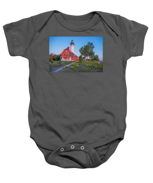 Morning Light At Au Sable Point Baby Onesie