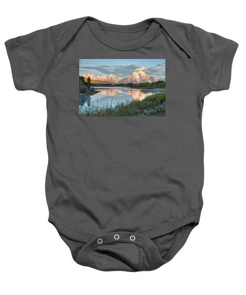 Morning Light At Oxbow Bend Baby Onesie