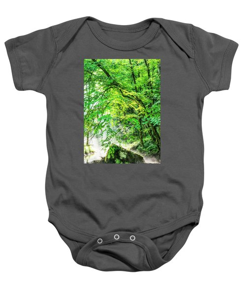 Morning Light In The Forest Baby Onesie