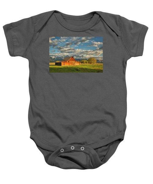 Morning Light On Moulton Barn #2 Baby Onesie