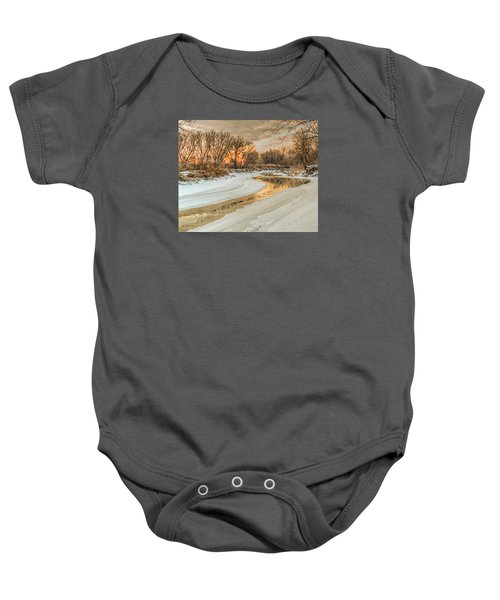 Morning Light On The Riverbank Baby Onesie