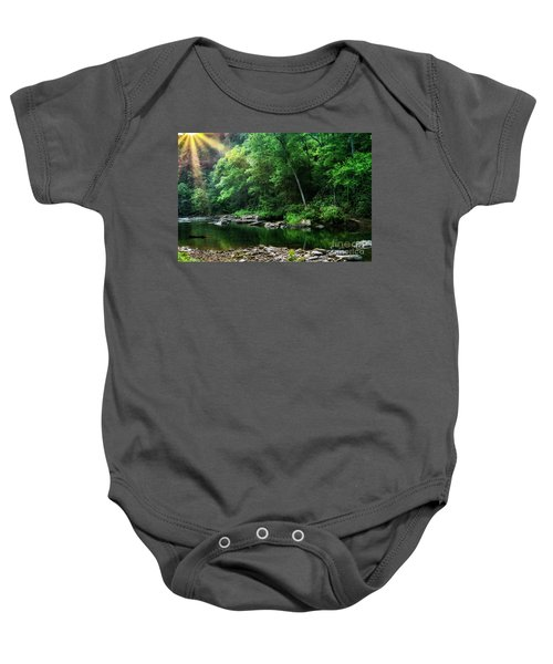 Morning Light On Williams River  Baby Onesie