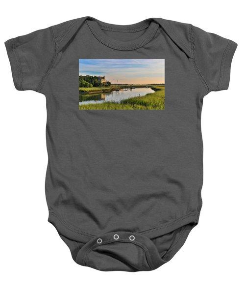 Morning On The Creek - Wild Dunes Baby Onesie
