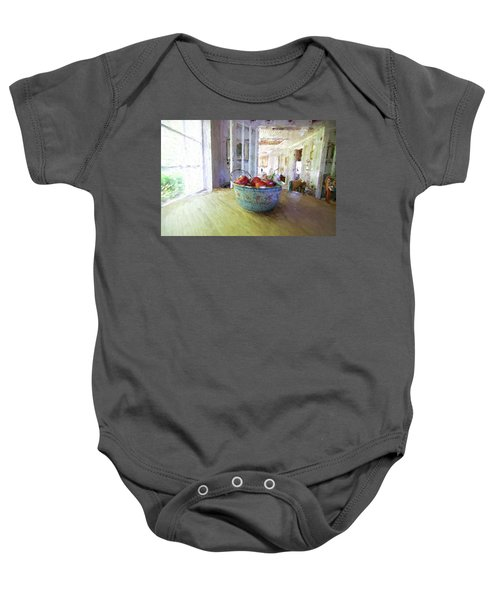 Morning On The Farm Baby Onesie
