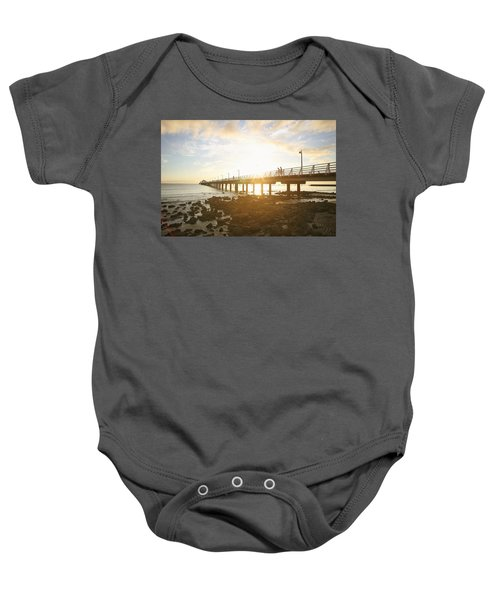 Morning Sunshine At The Pier  Baby Onesie