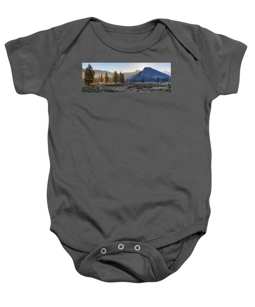 Baby Onesie featuring the photograph Morning Tuolomne  by Vincent Bonafede