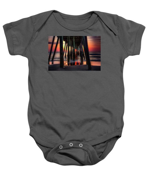 Morning Under The Pier Baby Onesie