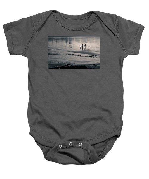 Morning Walk, Gooch's Beach, Kennebunk, Maine Baby Onesie