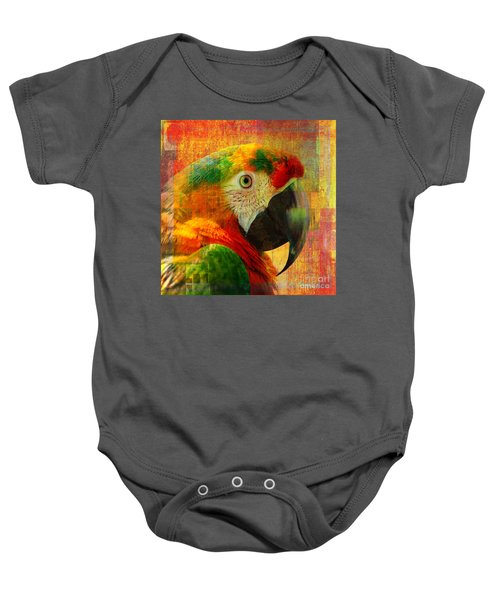 Mosaic Macaw 2016 Baby Onesie