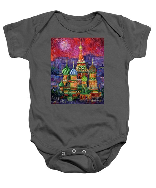 Moscow Saint Basil's Cathedral Baby Onesie