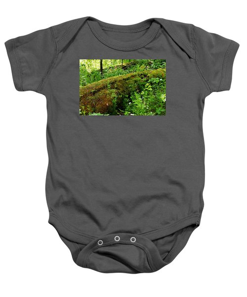 Moss Covered Log 2 Baby Onesie