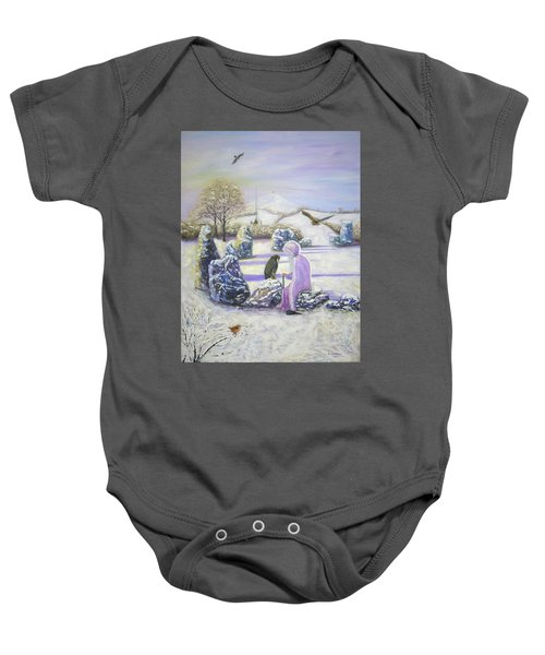 Mother Of Air Goddess Danu - Winter Solstice Baby Onesie