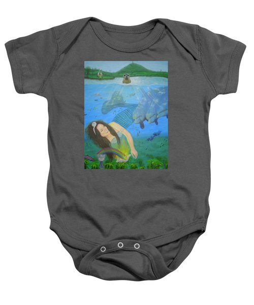 Mother Of Water Goddess Domnu - Summer Solstice Baby Onesie